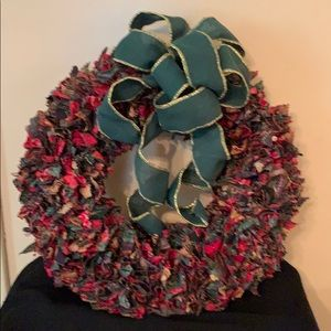 Other - Handmade fabric holiday wreath